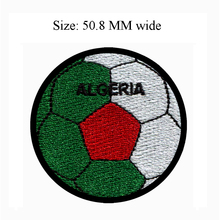 50.8MM wide ALGERIA patch of soccer ball custom embroidered patch/cloth patch/football(China)
