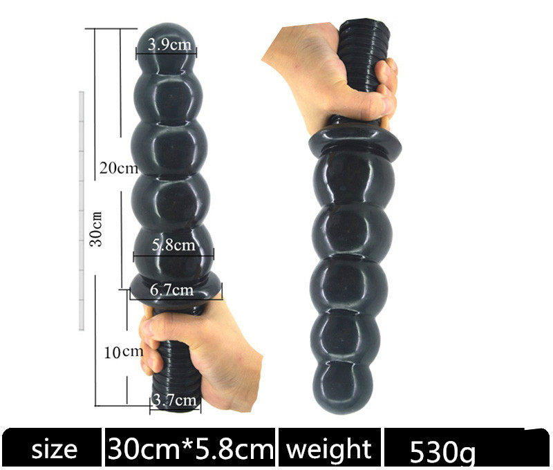 Anal Sex Toys Sexuales Anal Plugs Butt Plugs Huge Anal Dildo 30cm Long Butt Plug Beads with Handles Adult Toys 5