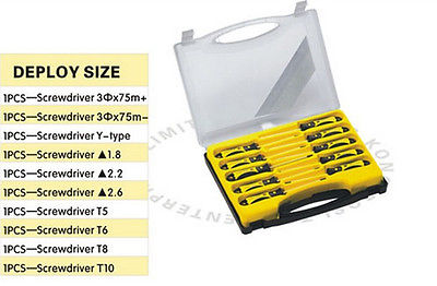 Portable Convenient Screwdriver Pack 10pcs Minisize Screwdrivers Pack<br>