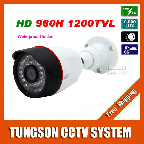 New Arrival CCTV Sony CCD 960H Effio 1200TVL Outdoor Video Surveillance 36LED Infrared White Mini Bullet Security Camera<br>