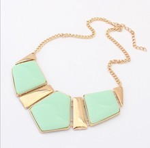 2016 Hot Sale Fashion Jewelry Female Big Imitation Gem Stone Necklace For Women Statement Necklaces 2N025