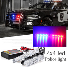 car-styling 2x4/led Ambulance Police light Car Truck Emergency Light Flashing Firemen Lights DC12V Strobe Warning light