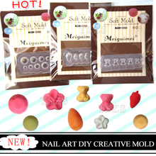 1pcs/lot Silicon strawberry Little Bear flower nail art DIY creative mold decoration