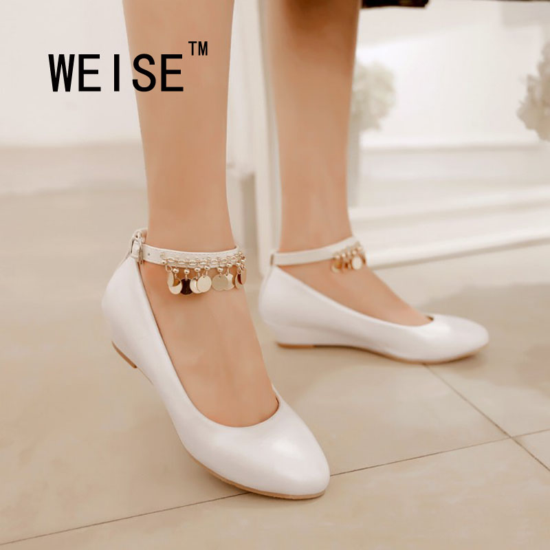 Spring Autumn Sweet Candy Colors Low-Heeled Ankle Strap Women Shoes  Pump Leather Shoes Sequined Work Shoes Large Size 35-43<br><br>Aliexpress