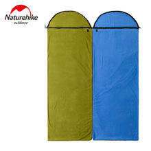 Naturehike Outdoor Sleeping Bag Fleece Sleeping Bag Liner Envelope Splicing Sleeping Bag Summer Quilt NH15S011-D(China)
