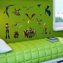 How to Train Your Dragon Wall Sticker DIY Vinyl Art Decor Kids Room Home Decals Children Room Gift