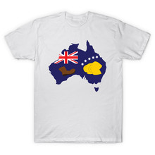 Summer Top Fashion tees homme Clothing Booting Flag Australia short O neck Letter t shirts 3d