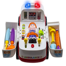 10X Ambulance Light Music Doctor Rescue Vehicle Set Toy For Toddlers Kids Child(China)