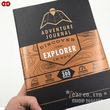 Adventurer Journal Travel Logue trip Black-gold ver Funny scratch map book creative discover gift record perfect moment(China)