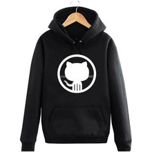 New autumn and winter Github hoodies Linux Merb Ruby geek GEEK programmer octopus cat octocat thick sweatshirt(China)