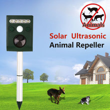 Solar Ultrasonic Animal Pest Repeller Scarer Repellent Garden Bat Cat Dog Foxes Mouse Birds Control New Arrival