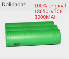 100% original 3.7 V 3000 MAH Li ion rechargeable 18650 battery akku to us18650VTC6  vtc6 battery 30A toys tools flashlight