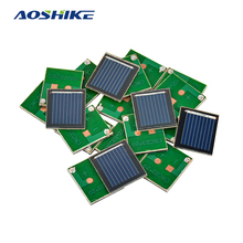 Aoshike 20pcs 0.5V 80MA polycrystalline silicon solar cell panel DIY technology Small production material(China)