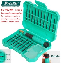Proskit SD-9829M Multifunction 18 in 1 Precision Screwdriver Set laptop computer smart phone repair disassemble screwdriver(China)