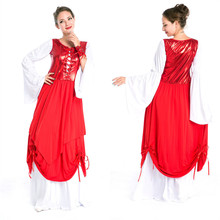 100% Real England Palace Shot European Stage Dance Queen Princess Costume Cosplay Halloween Carnival Costumes for Women PS1084