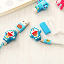 Cute Cartoon USB Cable Protector Cable Winder Cover Case accessories For Apple IPhone 5 5s 6 6s 7 plus cable Protect stitch bear