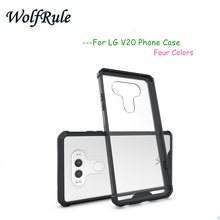 "sFor Phone case LG V20 Cover 5.7"" TPU+Transparent PC Case For LG V20 Case For LG V20 F800 H990ds F800L F800S Funda WolfRule <(China)"