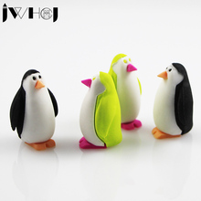 1 pcs JWHCJ creative cartoon penguin eraser Kawaii stationery office school correction supplies papelaria child's toy gifts