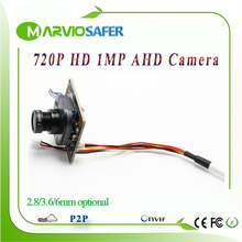 720P 1MP HD AHD AHD-L Analog High Definition CCTV Camera module board with OSD Built-in ircut and lens(China)