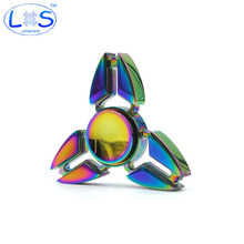2017 New EDC Tri-Spinner Fidget Toys Pattern Hand Spinner Metal Fidget Spinner and ADHD Adult decompression toys Action