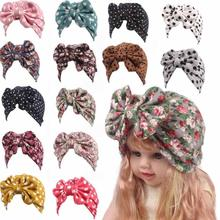 Lovely Baby Floral Hat Big Bow Baby Hat Organic Cotton Spring Autumn cap suitable for 2-8 years old Baby Infant Gift XV2(China)