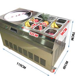110V/220V fried ice cream machine double pan new double pressure/compressor fried ice cream roll machine