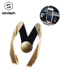 Sovawin Universal Car Phone Holder Air Vent Outlet Use Mount Holder Stand Vehicle Mounted 4-6 inch Mobile For iPhone For Samsung(China)