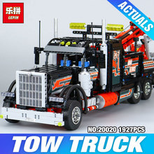 Lepin 20020 Technic Mechanical Ultimate Series The American Style Heavy Container Trucks Set 8285 Building Blcoks Bricks Toys