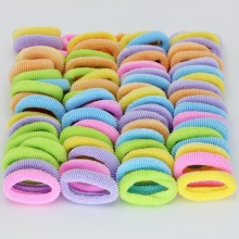 Headwear 76pcs/lot Dia 28mm korean Rainbow Color Gum For Hair Rubber bands kawaii hair accessories gum girl ornaments