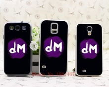 72M- popular hot sale funny Depeche Mode Dm logo Hard Clear Case Cover for Samsung Galaxy S5 S4 S3 I9600 I9500 I9300