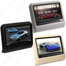 "1pc Black Digital HD 9"" Car Headrest LCD Monitor Hanging DVD Player With FM USB SD Game  #CA3858"