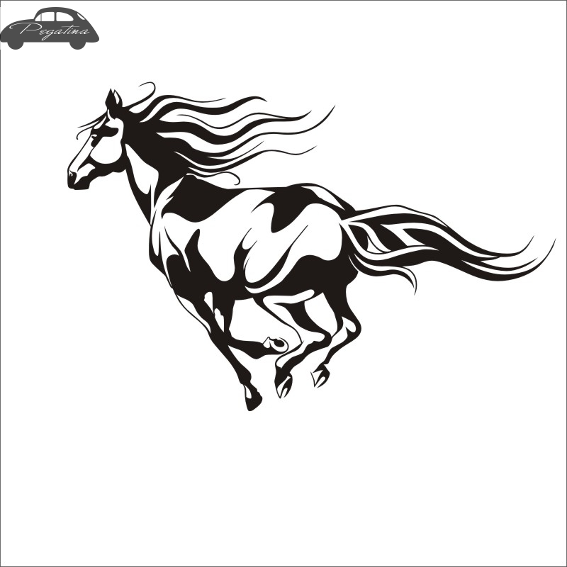 Pegatina Horse Sticker Mustang Decal Hollow Sticker Car Window Vinyl Funny Poster