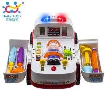 Livraison Gratuite 836 Ambulance Bébé Simulation Toys Brinquedos Bebe Électrique Véhicule Jouet Carrinhos e Cia Bébé Toys Apprentissage