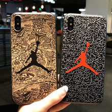 СПС iPhone 8 плюс чехол iPhone XS Jordan чехол для телефона для iphone 6, iphone 6s, iphone 7 Plus iPhone X XR XS Макс Matte пластичный чехол из термополиуретана силикона(China)