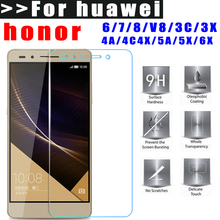 Tempered Glass for huawei honor 6 7 8 V8 3C 3X 4A 4C 4X 5A 5X 6X Premium HD Screen Protector film 2.5D 9H Easy to Install