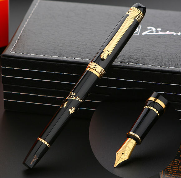 real black Picasso 926 Fountain Pen business gift pen free shipping school and office Writing Supplies send teacher student<br>
