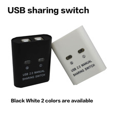 USB 2.0 Hub Manual Sharing Switch 2 Ports for Computer PC Printer Mini NI5L High quality hot sale