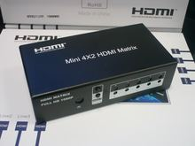 Professional 4x2 HDMI Matrix HDMI Switcher Support 4Kx2K HDMI Splitter Hub Box 4 input 2 output For HDTV DVD Black US Plug