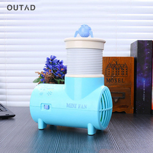 Usb small fan desktop Air Conditioner Cooling Fan No leaf fan creative ABS Electric Desktop Computer Fan