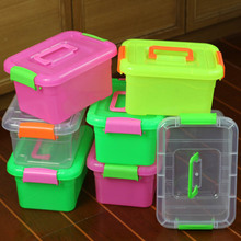 Plastic Medication Storage Boxes Candy Color Storage Box for Building Blocks Toys Home Makeup Organizer