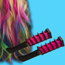 New 4 Colors Hair Dye brush Hair Care Temporary Hair Dye Combs Semi Permanent Hair Multicolor Chalk Powder With Comb