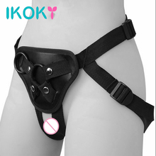 Buy IKOKY Sex Pants Strapon Penis Bondage Roleplay Strap Dildos Pants Wearable Sex Toys Women Lesbian Underwear Erotic toys