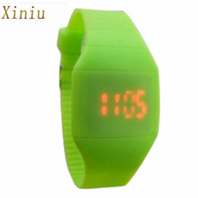 Fashion Classical Men Women Children Colorful Watch The Jelly Ultra-Thin LED Silicone Sport Wrist Watch For Boy Girls Wristwatch