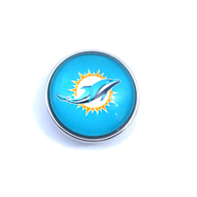 USA Perfect Football Fan Gift Seattle Dolphin snap Charms and snap button Pendants 5/lot 10lot/wholesale(China)