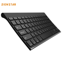 Zienstar Ultra slim Wireless Keyboard Bluetooth 3.0 for ipad/Iphone/Macbook/PC computer/Android tablet English letter(China)