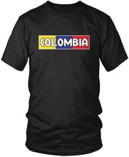 Colombia Pride, Colombian Flag Colors Bold Font Funny Printing T Shirts Men Short Sleeve T-shirts