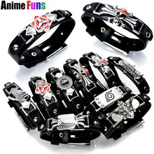 10 types Game Anime Bracelet One Piece Naruto Black Butler Fairy Tail Bleach Attack on Titan Death Note LOL Cross Fire Bangle