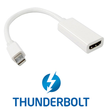 CY Thunderbolt Port to HDMI Female Adapter Cable with Audio Video for Mac Book 2011 2012 2013