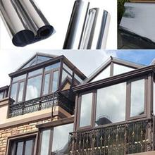 Waterproof Window Film One Way Mirror Silver Insulation Stickers UV Rejection Privacy Windom Tint Films Home Decoration 2M*50CM