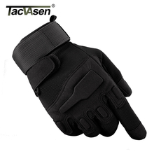 TACVASEN Men's Army Gloves Combat Full Finger Gloves Military Tactical Gloves Men Paintball Anti-Slip Leather Gloves TD-YWHX-021(China)